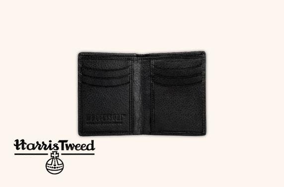 Harris Tweed slim bi-fold wallet