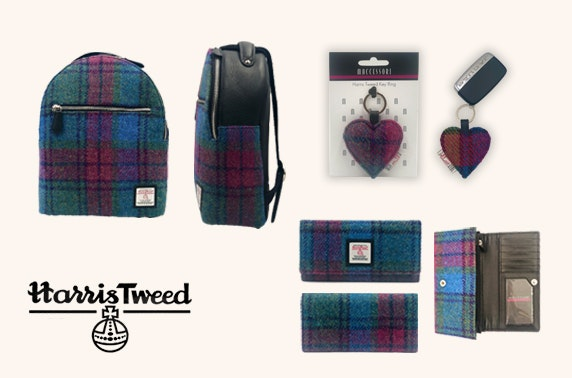 Harris Tweed accessories bundle with backpack, ladies purse and heart keyring