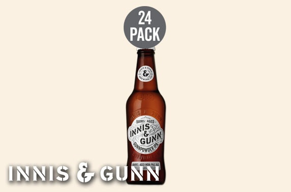 24 bottles of Innis & Gunn Gunnpowder IPA with wall mounted bottle opener; available for home delivery