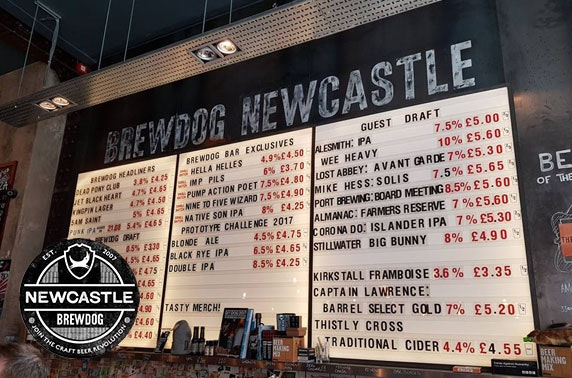 BrewDog Newcastle pizzas & drinks