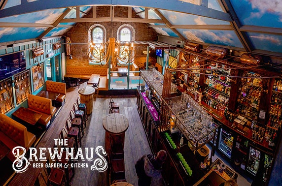 The BrewHaus Beer Garden & Kitchen pizzas - from £5pp