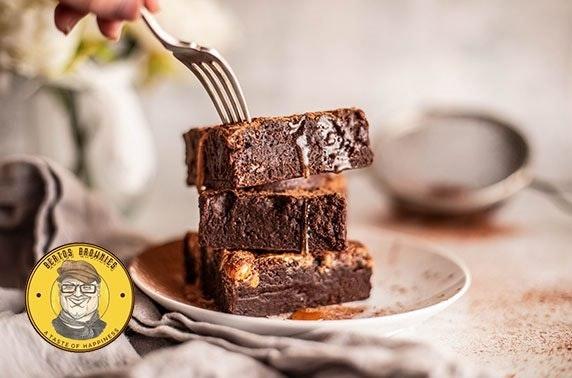 Four luxury brownies from Berto's Brownies