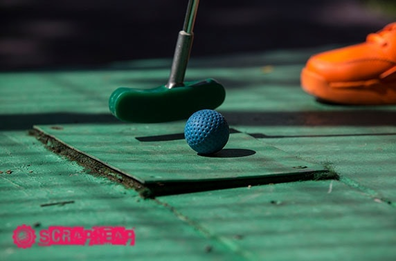 Crazy golf - from £4.25pp