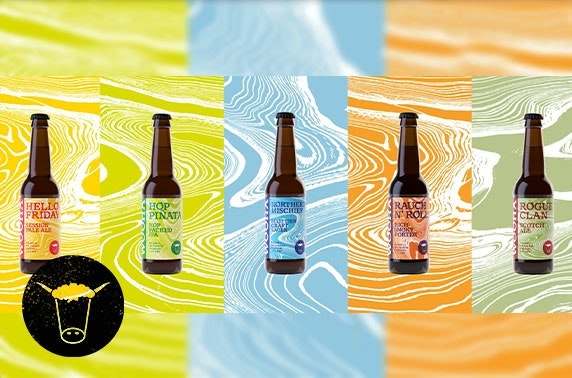 WooHa mixed case of craft beer from the Highlands - 12 bottles of craft beers with a £5 voucher to spend online