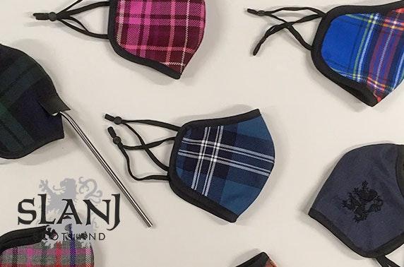 Face mask in a choice of tartan