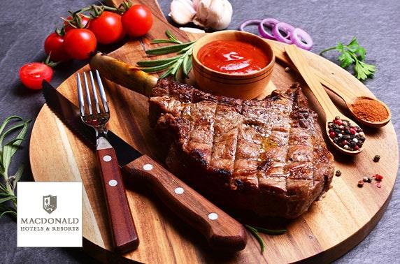 Macdonald Drumossie Hotel steak dining