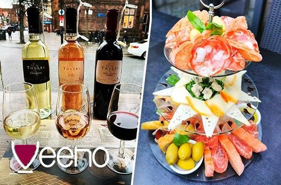 Italian afternoon tea or wine flights, Albert Square