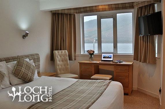 Loch Long Hotel DBB, near Loch Lomond - from £59