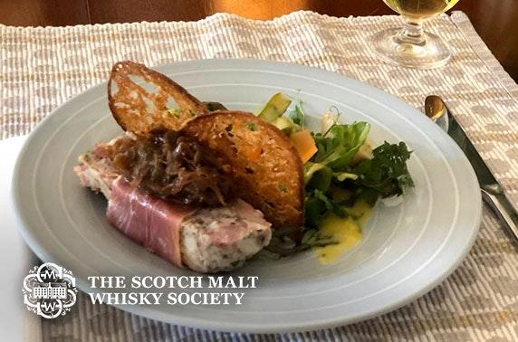 Scotch Malt Whisky Society dining & drinks at-home