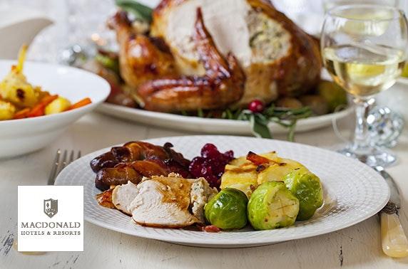2 AA Rosette-awarded festive roast, Macdonald Pittodrie House