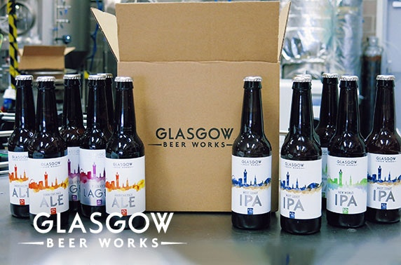 Mixed beer case from Glasgow Beer Works