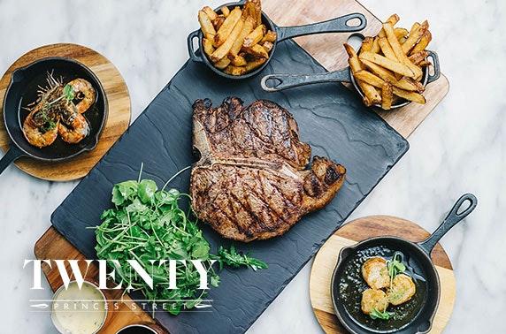 Steak frites & wine at Twenty Princes Street - £29
