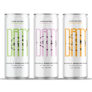 DRTY Drinks alcoholic sparkling water - £18 inc P&P