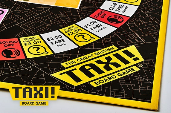 Taxi! Board Game The Great British edition