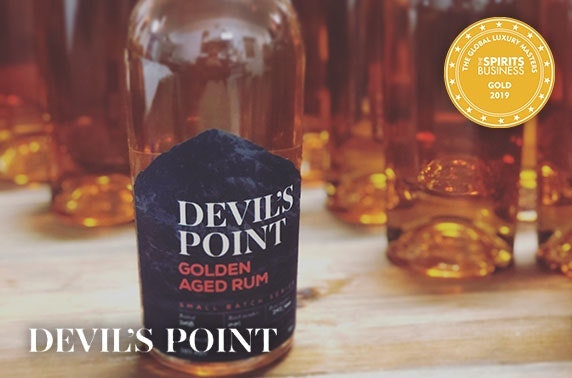 Devil's Point Rum tasting box with 3 x 50ml rums and live virtual tasting