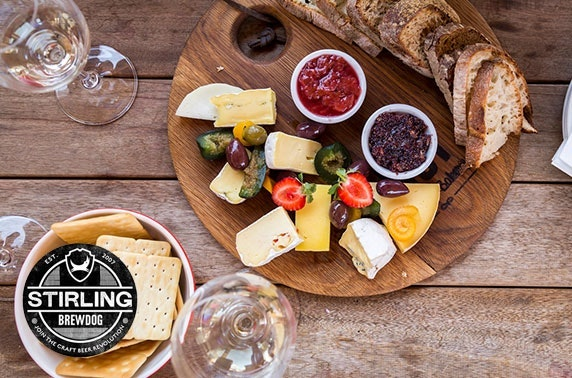 BrewDog Stirling gin flights & cheeseboard