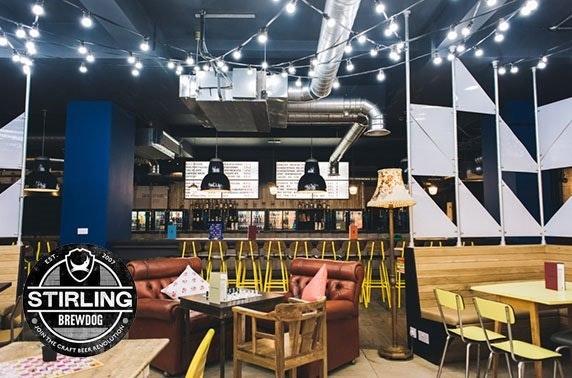BrewDog Stirling gin flights & cheeseboard