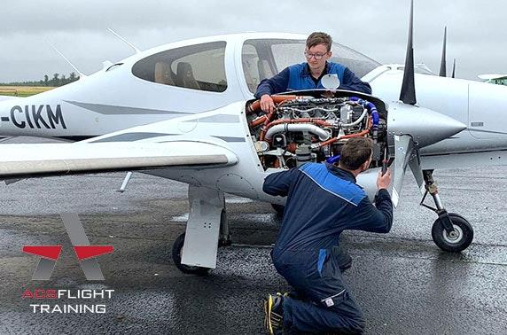 Guided aircraft hangar tour, Perth Airport