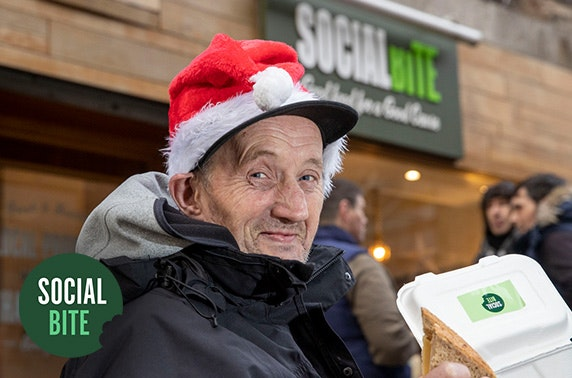 Christmas dinner for a homeless person
