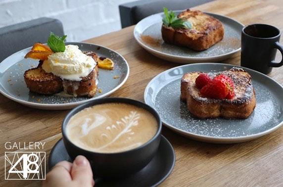 Gallery 48 breakfast or tapas