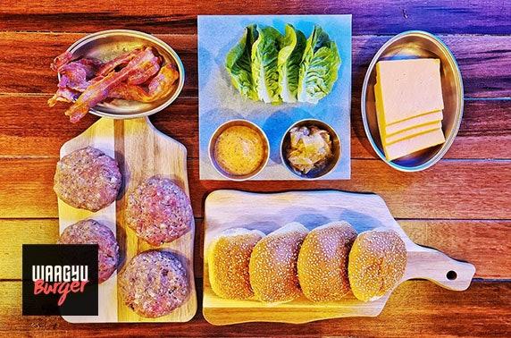 Waagyu Burger kit delivered