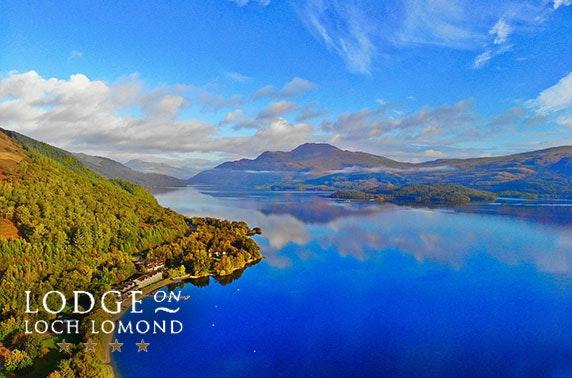 4* Lodge on Loch Lomond lunch
