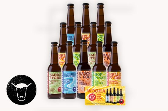 WooHa; A Wee Taste of the Highlands - 12 mixed bottles of craft beer
