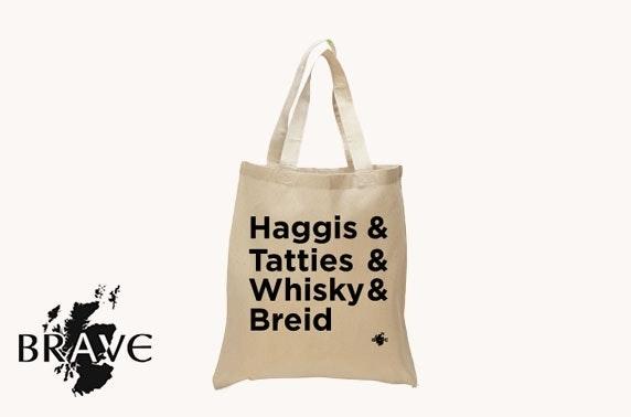 Haggis shopper tote bag