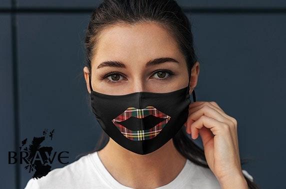 Scottish themed cotton face masks