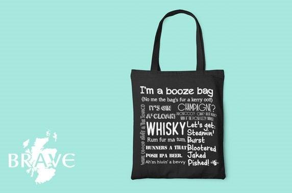 Chalkboard Booze Bag