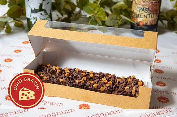 Brownies, afternoon tea & grazing boxes delivered