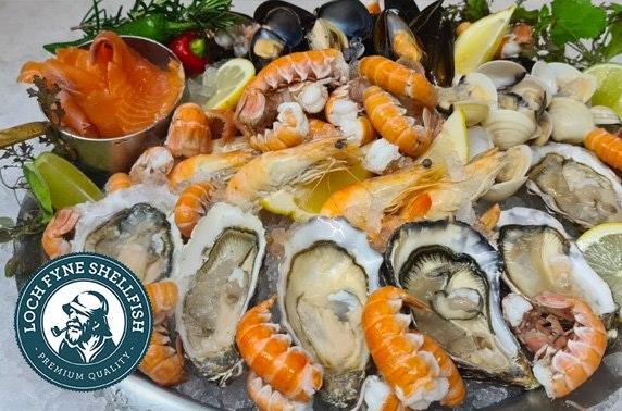 Loch Fyne Shellfish Valentine's platter