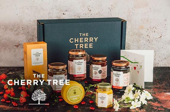 Fine foods gift box from The Cherry Tree inc. cheese, chutney, jam & more