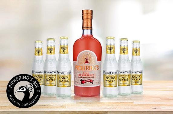 50cl Pink Grapefruit & Lemongrass gin liqueur with 6 Fever Tree Tonics