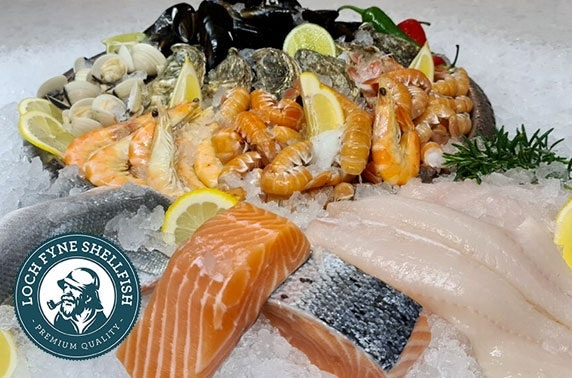 Fish box delivered from Loch Fyne Shellfish; tuck into a range of haddock, salmon and more!