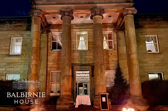 Takeaway mains & drinks from Balbirnie House Hotel