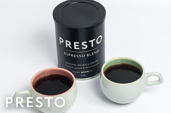 1 month subscription to the Award-winning Presto Coffee