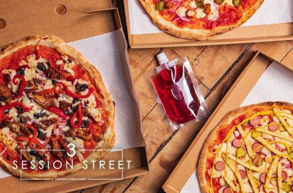 3 Session Street takeaway pizza & cocktails