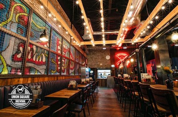 Takeaway burgers & beer, BrewDog Union Square
