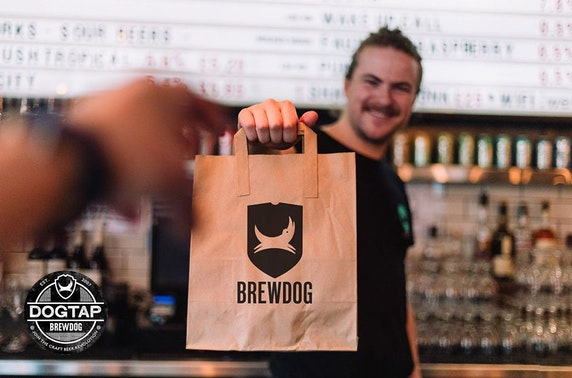 Takeaway burgers & beers from BrewDog DogTap