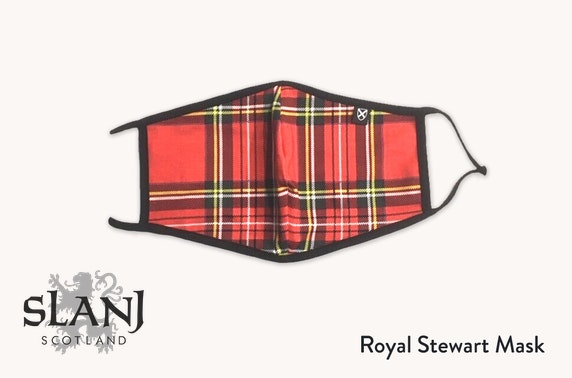 Adult face mask in a selection of Stewart tartan