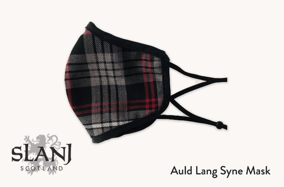 Adult face mask in a choice of tartan