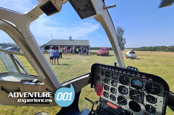 Northumberland helicopter tour & hike