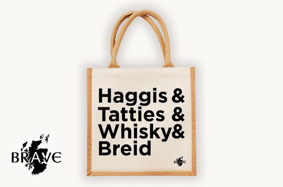 Haggis & Tatties jute bag
