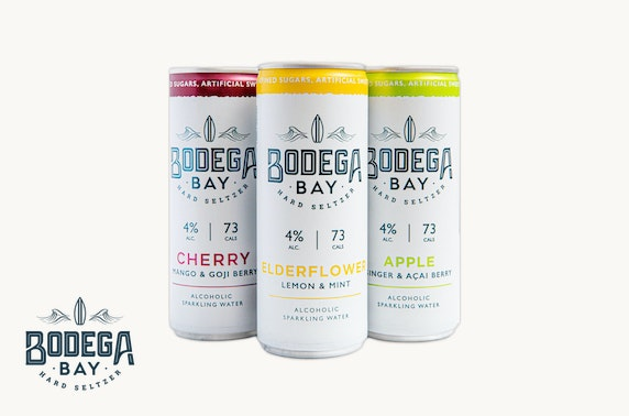 Bodega Bay alcoholic sparkling water from £10 inc P&P