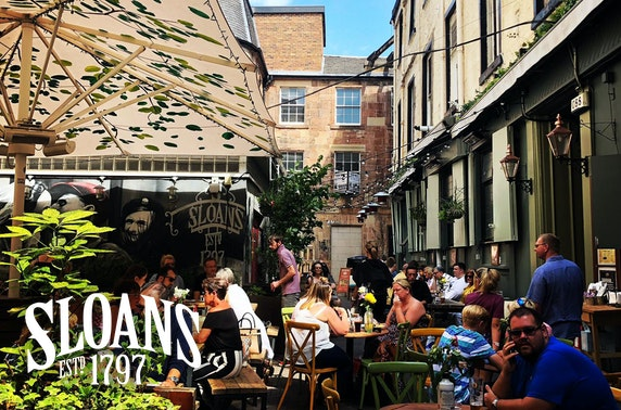 Sloans courtyard dining, City Centre