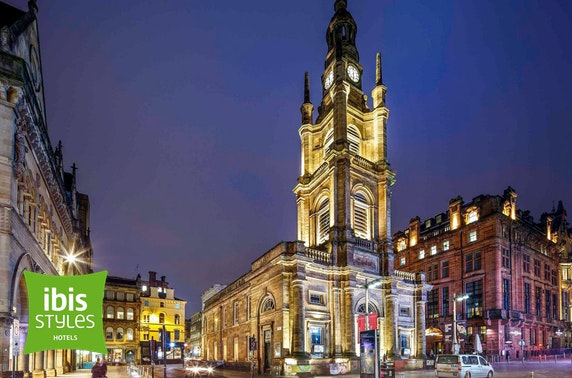 ibis Styles Glasgow City Centre stay - from £59
