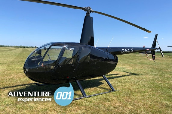 Helicopter flying lesson - £99