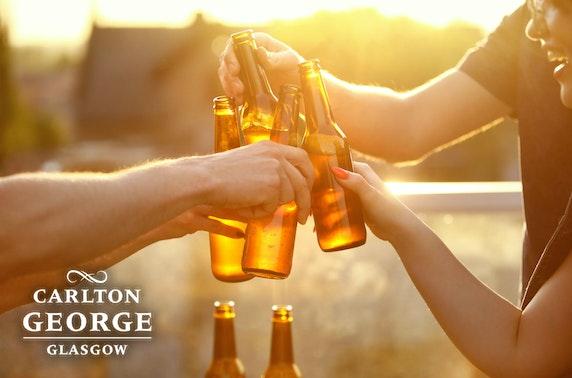 Rooftop drinks, 4* Carlton George Hotel
