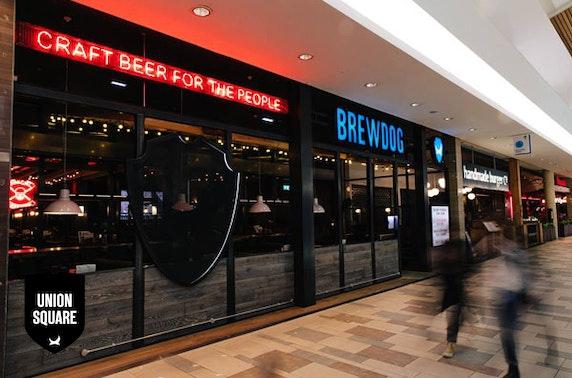 BrewDog Union Square pizzas & drinks